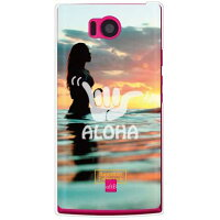 AQUOS PHONE 103SH/SoftBank専用 スマートフォンケース HawaiianCollectionシリーズ アイランドガール クリア SSH103-PCEN-204-S424
