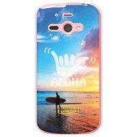 AQUOS PHONE ef WX05SH/WILLCOM専用 スマートフォンケース HawaiianCollectionシリーズ サーフデイ クリア WSH5SH-PCEN-204-S453