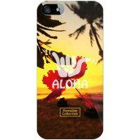 スマートフォンケース  光沢なし  HawaiianCollectionシリーズ ハイビスカス クリア  iPhone SE/5s/docomo