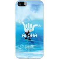 スマートフォンケース  光沢なし  HawaiianCollectionシリーズ ブルーバレル クリア  iPhone SE/5/SoftBank