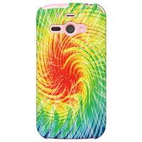 AQUOS PHONE ss 205SH/SoftBank専用 SECOND SKIN スマートフォンケース Tie dye イエローレッド design by ROTM SSH205-ABWH-193-K642