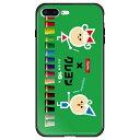 藤家 iPhone8P/7P 5.5 サクラクレパス ガラスハイブリッド ケース ghp7046-bk-c-ip8p