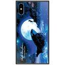 藤家 iPhone XS Max 6.5インチ用 ラッセン ガラスハイブリッド E. ORCA MOON