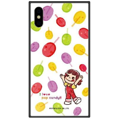 藤家 iPhone XS Max 6.5インチ用 不二家 ガラスハイブリッド F. ポップキャンディ