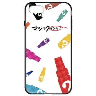 藤家 iPhone8P/7P 5.5 マジックインキ ガラスハイブリッドケース ghp7170-bk-d-ip8p