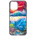 藤家 Fujiya iPhone 12/12 Pro 6.1インチ対応 ラッセン ガラスハイブリッド C. SHANGRI-LA-SUNSET