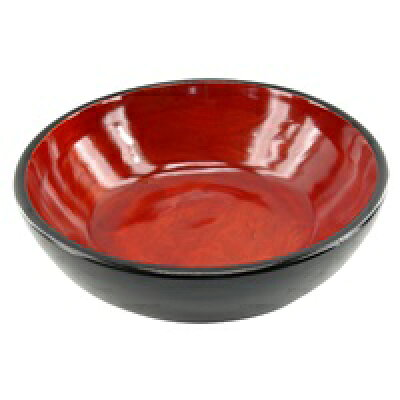 マホガニーウッドの赤く彩られたスパボウル(丸型)(10949)