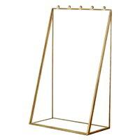 ガラスと真鍮でできたアクセサリースタンドケース(63200)