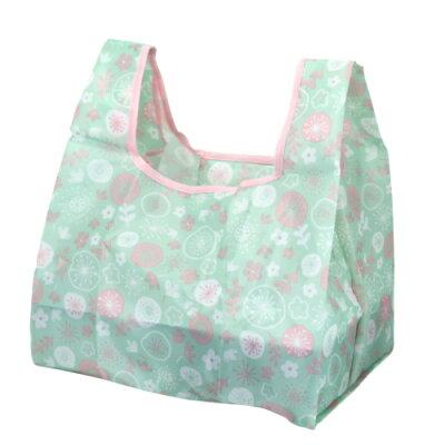 フラワーファンシー コンビニ 弁当 マチ広 ショッピングバッグ エコバッグ パターン ジップコーポレーション お買い物かばん コンパクトサイズ