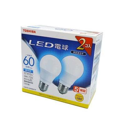 東芝 TOSHIBA LDA7D-G/K60V1P LED電球 E26 /昼光色 LDA7DGK60V1P