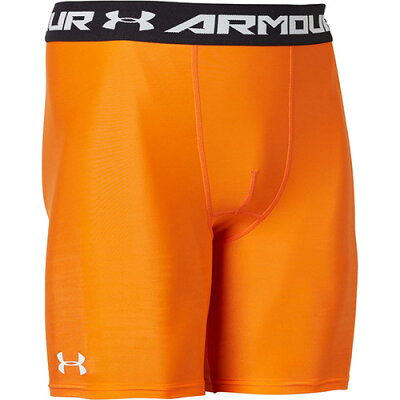 アンダーアーマー UNDER ARMOUR メンズ アメリカンフットボール ヒートギアアーマー ショーツ UA HEATGEAR SHORT ゴールドフィッシュ/ホワイト/ホワイト 1359036 874