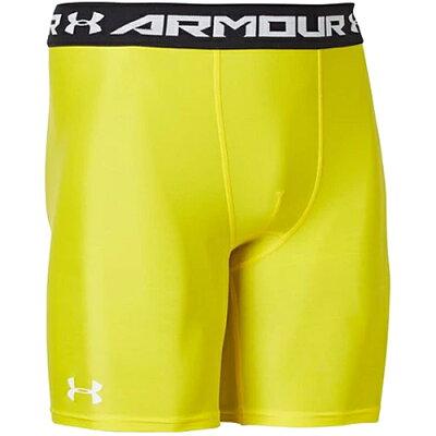 アンダーアーマー UNDER ARMOUR メンズ アメリカンフットボール UA ヒートギアアーマー ショーツ サンシャイン/ホワイト 1359036 737