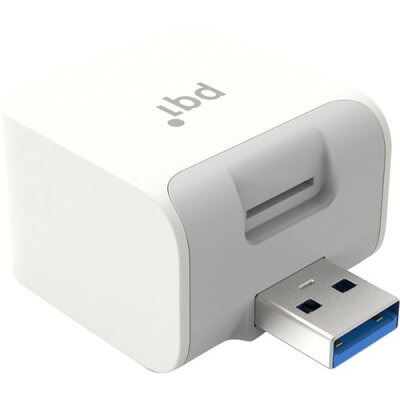 PQI iPhone/Android 自動バックアップ用カードリーダー iCube ICB-WH(1台)