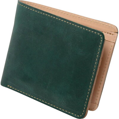 m、i、u、o.j ヌメ革 二つ折り財布 キャメル OJ-4021