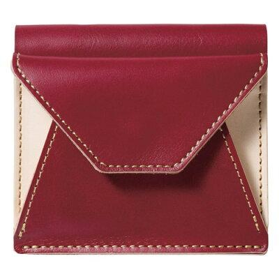 m、i、u、o.j ヌメ革 二つ折り財布 レッド OJ-1004