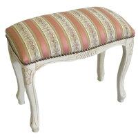 パシフィックGLD イタリア製 クラシカルな椅子 スツール S ホワイト×ピンク 51195 47×43.5