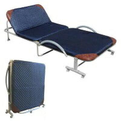 リクライニング機能付 折りたたみベッド