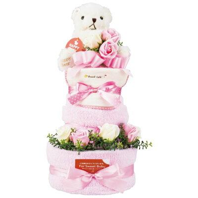 おむつケーキ 3段 ピンク 20-10000P-OP