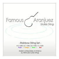 Famous / フェイマス Aranjuez ( アランフェス ) レインボーナイロン ウクレレ弦