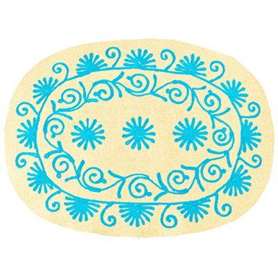 ランチョンマット フェルト シングルカラー 刺繍 ベージュ 32×24.5 64907136