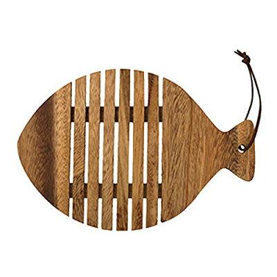 トモコーポレーション 鍋敷き アカシア サカナ 木製 ダイカット すのこ状 45076129