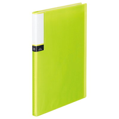 TANOSEE クリアブック 透明表紙 A4タテ 24ポケット 背幅15mm グリーン