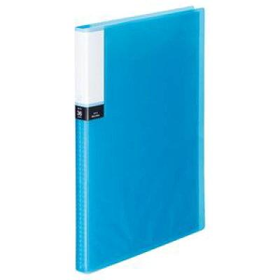 TANOSEE クリアブック 透明表紙 A4タテ 36ポケット 背幅20mm ブルー