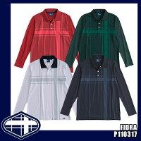 FIDRA フィドラ ゴルフウェア P110317 リブ衿長袖ポロシャツ メンズ