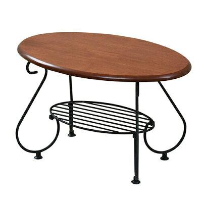 オーバルテーブル 形テーブル クラシック風 ロートアイアン 85x41x40cm リビングテーブルiri-0052jk175-3fv