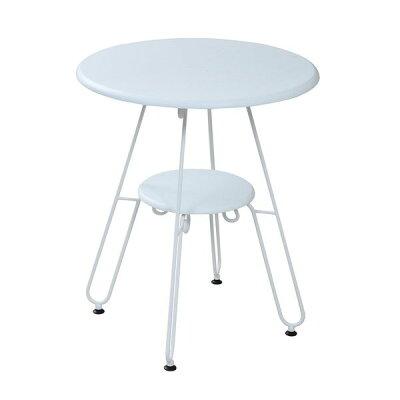 ロートアイアンシリーズ丸テーブル幅60cmアイアン脚クラシック IRI-0051-WH ホワイト