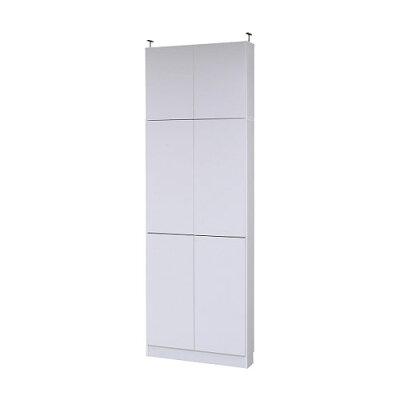 JKプラン MEMORIA 棚板が1cmピッチで可動する 薄型扉付幅81 上置きセット FRM-0101DOORSET-WH