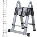 はしご 伸縮 脚立 アルミ 伸縮はしご 折りたたみ 5m  DN-FSL50