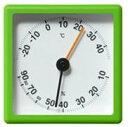 ±0 プラスマイナスゼロ ZZS-R010-G 温度・湿度計 (グリーン)