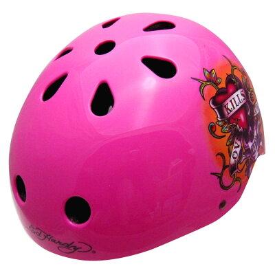 Ed Hardy エドハーディ  ヘルメットZodiac ラブズキルズスローリー Lサイズキッズ・子供用ヘルメット