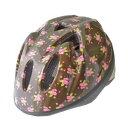 徳島双輪 自転車用キッズヘルメット TETE スプラッシュハート リトルローズ ブラウン Sサイズ