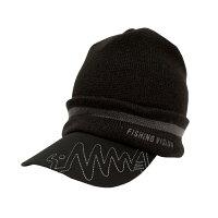 釣りビジョン オリジナルツバ付ニット帽 ブラック×グレー