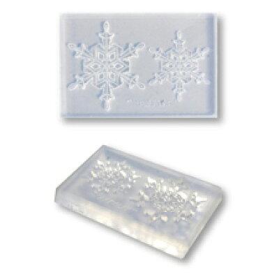 ねんど 銀粘土 用具 シリコンモールド 雪の結晶モールド スタンダードA