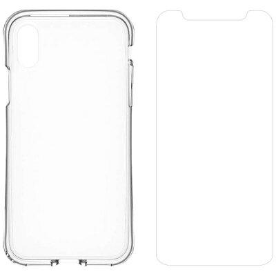 トリニティ iPhone X用 Aegis Grip Plus 衝撃吸収フルガードTPUケース&フィルム クリア TRIP178AGGPLCLCL