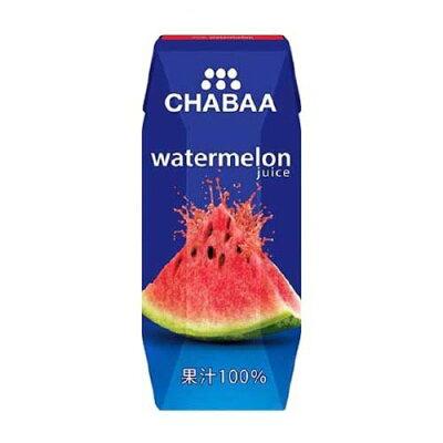 チャバ 100%ジュース ウォーターメロン(180ml×36本)