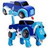 JDtoys 変形ドライブカー/犬ブルー 走っている車が犬に変形する ゼンマイ式 おもちゃミニカー青色