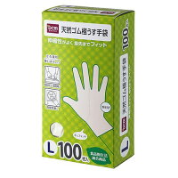 DCMブランド 天然ゴム極薄手袋 H17-LT001L L
