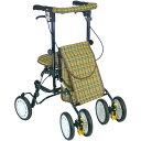 杖立て/反射機能付き 高さ5段階調整可 歩行補助用品/介護用品 ブラウン