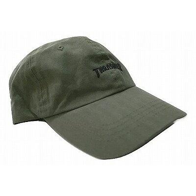 パネルキャップ スラッシャー カーキ THRASHER ロゴ刺繍キャップ ローキャップ CAP 16TH-C25