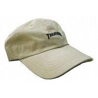 スラッシャー 6パネルキャップ ベージュ ローキャップ THRASHER ロゴ刺繍 CAP 16TH-C25 帽子