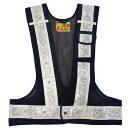 ミズケイオリジナル LED多機能ベスト『光るんです!』IU付き<紺/白>