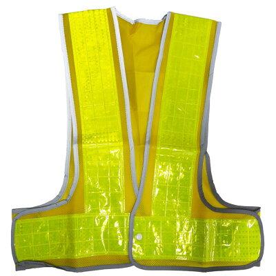 安全ベスト フリーサイズ 反射ベスト (ベスト:黄/反射帯:黄色)