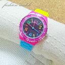 ASD031-J/ Fild work フィールドワーク フリーサイズ 腕時計 ファッションウォッチ ラバブー石無/ミックス ピンク