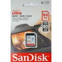 SDSDUNC-064G-GN6IN-T サンディスク SDXCメモリーカード 64GB Class10 UHS-I Ultra SDSDUNC064GGN6INT