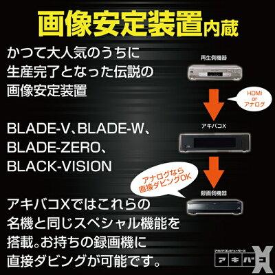 アキバコ HDMI&アナログ入出力搭載 動編集機能付きレコーダー アキバコンピューターX ABC-X33KK9N0D18P