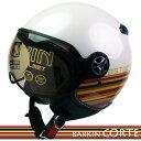 カラー バーキン コルテ シールド付きジェットヘルメット パールホワイト シレックス BARKIN ZS-210K